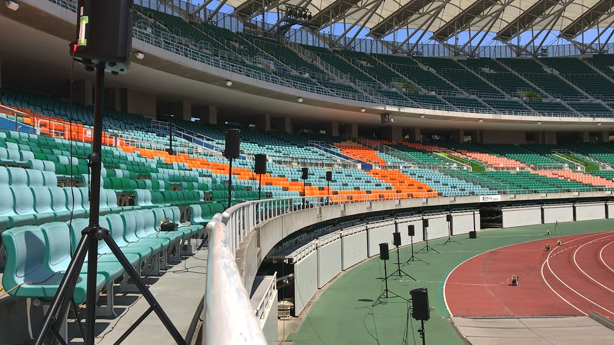 Speakers in place at Shizuoka Stadium ECOPA