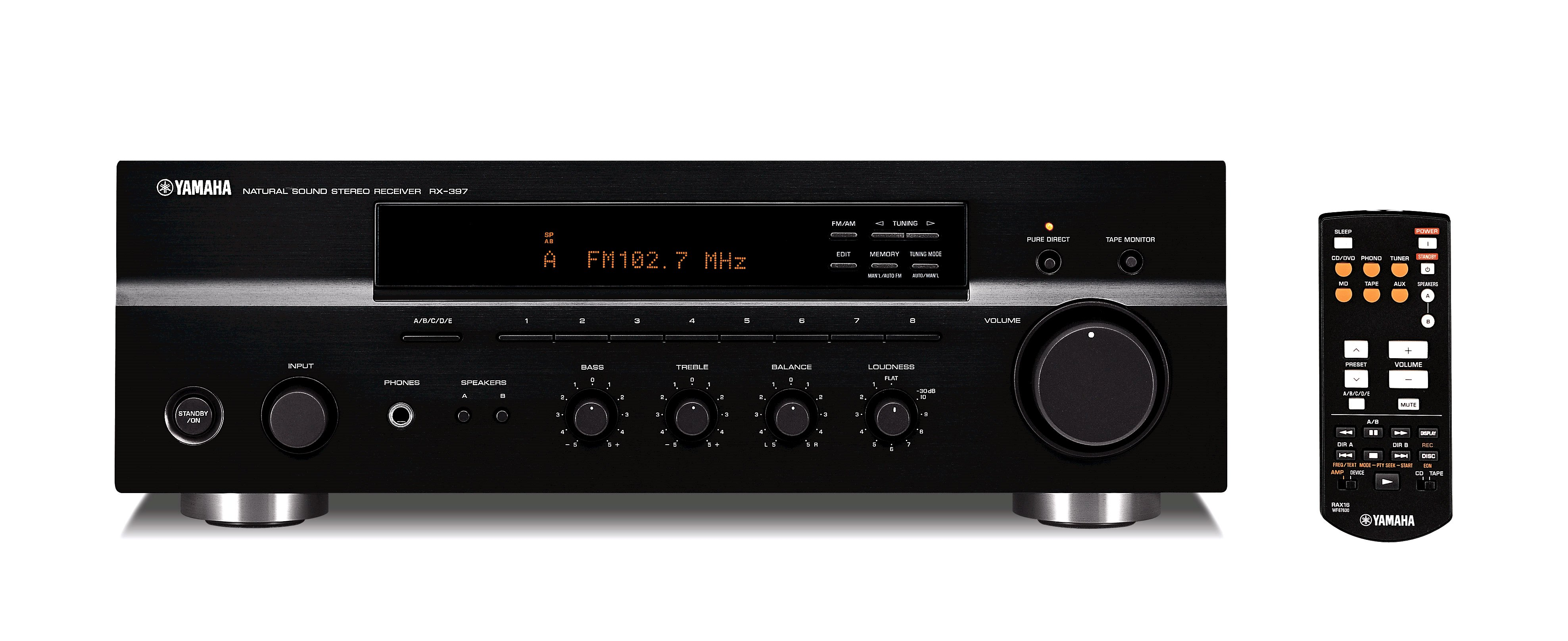 Rx 397 overview hifi components audio visual for Yamaha pure direct