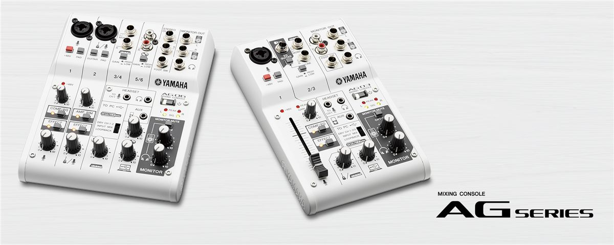 ה-AG03/AG06 - מיקסרים קומפקטיים להקלטות וסטרימינג מ-Yamaha
