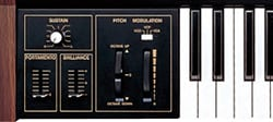 Wheel-type pitch bend and modulation controllers (CS-15D)