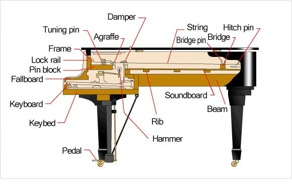 Schematic Rendering of a Grand Piano
