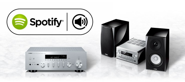 Yamaha support spotify connect on stereo receiver and for Yamaha amplifier spotify