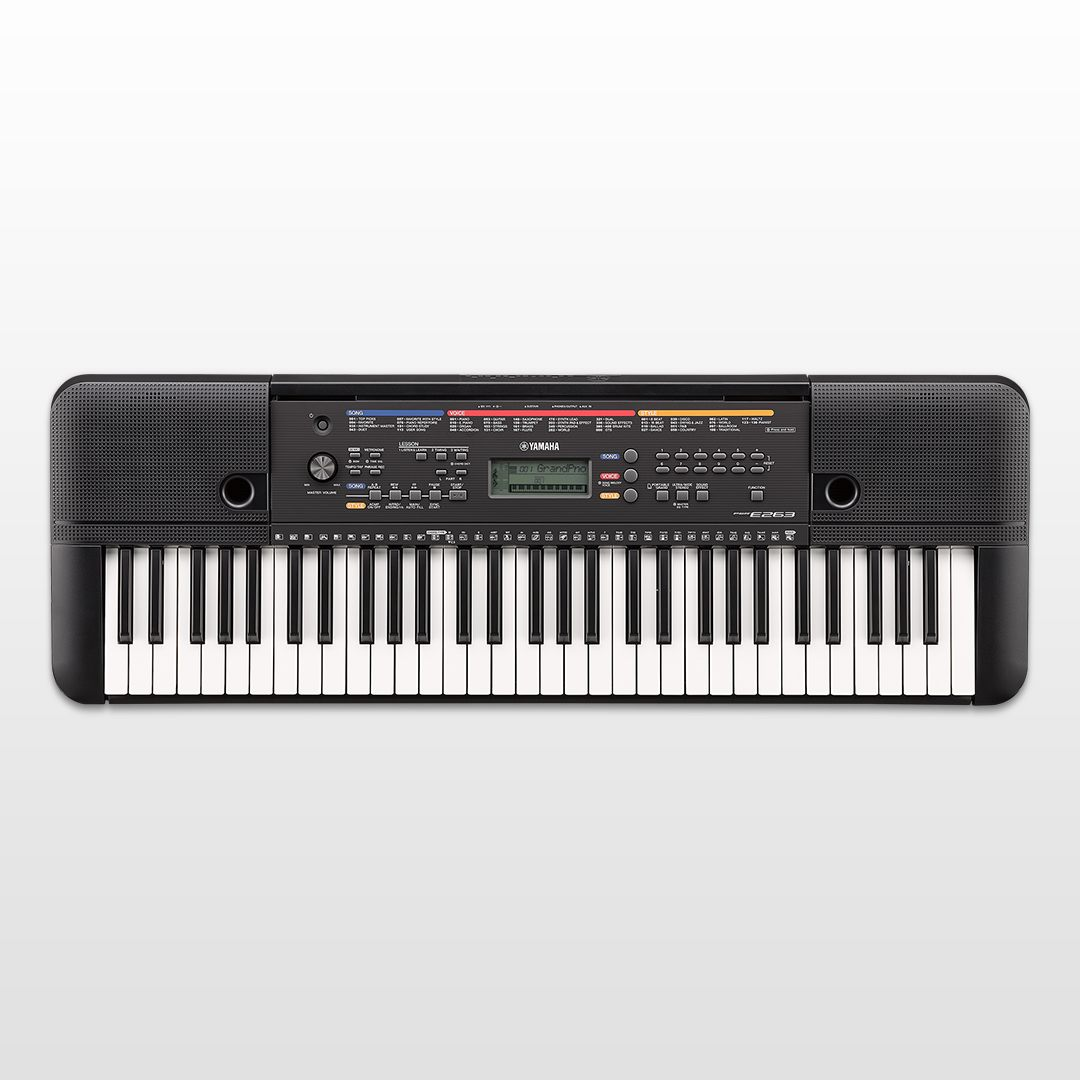 psr-e263 - overview - portable keyboards - keyboard instruments - musical instruments