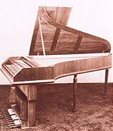 Piano with a pedal-board