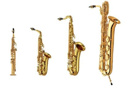 AUTHENTIC SAXOPHONE TONE IN 4 TYPES, 56 PRESETS—COVERING ALL MUSICAL GENRES